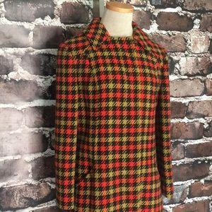 Pendleton Vintage Retro Wool Coat Buttons Pockets